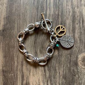Lucky Brand peace sign bracelet ☮️